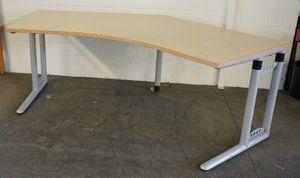 Steelcase Schreibtisch ahorn Freiformtisch Cockpit höhenverstellbar