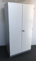 König + Neurath Aktenschrank weiß grau 4 Ordnerhöhen Flügeltürenschrank