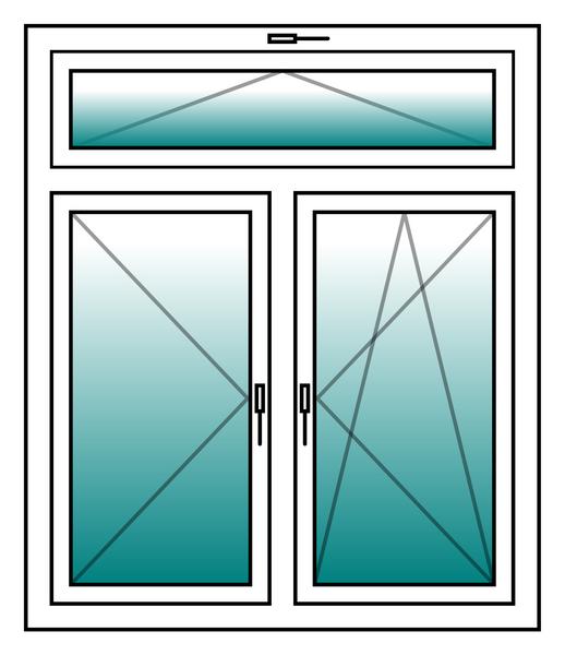 kunststoff fenster incl rahmen 2 fl gel oberlicht hxb. Black Bedroom Furniture Sets. Home Design Ideas