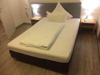 Hotelbett Boxspringbett 160x200cm, Bett incl. Matratze, Box: Leinenstruktur 001