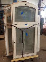 Holzfenster ca. 191x98cm, Doppelverglasung, mit Oberlicht, Dreh-Kipp, DIN-Rechts 001