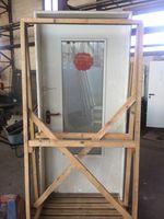 Schörghuber Rauchschutztür, HxB ca. 214x105cm, Holz mit Glasscheibe, RS-1, DIN-Links – Bild 2