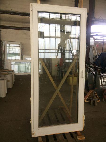 Schüco Tür für Balkon, Kunststoff, HxB ca. 226x99cm, DIN-Links, Dreh-Kipp – Bild 1