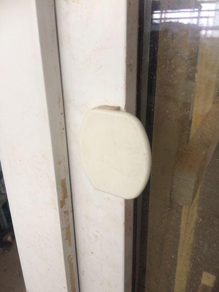 Schüco Tür für Balkon, Kunststoff, HxB ca. 226x99cm, DIN-Links, Dreh-Kipp – Bild 8