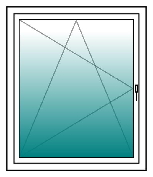 Schüco Kunststoff-Fenster ca. 124x113cm, Doppelverglasung, Dreh-Kipp, DIN-Links – Bild 2