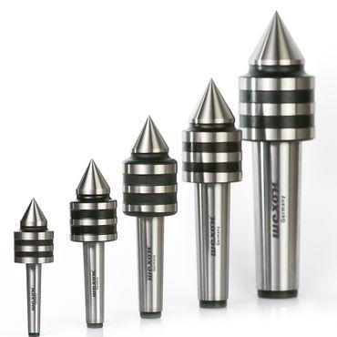 WEXON mitlaufende Körnerspitze MK1 / MK2 / MK3 / MK4 / MK5 Zentrierspitze Rollkörner kugelgelagert