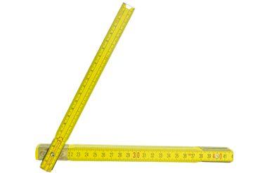 10 Stück STABILA Zollstock Holz Meterstab 2 m Meter Gelb Gliedermaßstab
