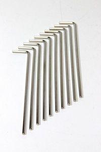 10x Winkelschraubendreher Innensechskant-Schlüssel - lang - SW 2,5 mm