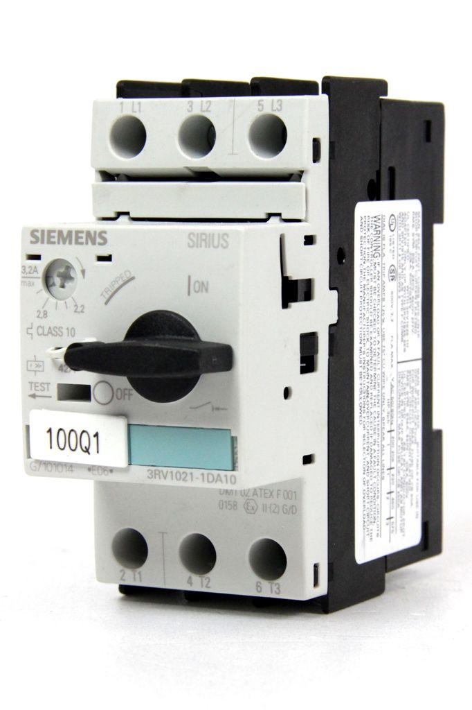 SIEMENS 3RV1021-1DA10 Leistungsschalter Motorschutzschalter 2,2-3,2A
