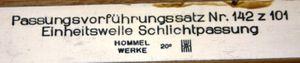 Hommel Werke - Passungs-Satz für Einheitswelle - Schlichtpassung - 35 mm – Bild 6