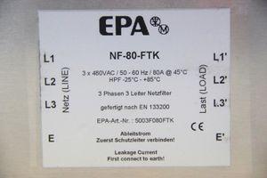 EPA - 3 Phasen Netzfilter - 3 x 480 VAC / 80 A - NF-80-FTK – Bild 2