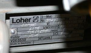 LOHER - Elektromotor Drehstrommotor 380VAC 16KW 1470U/min AVGA 180MB-84A – Bild 3