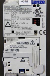 LENZE - Frequenzumrichter 0,25kW 1.7A - 8200 VECTOR - E82EV351_2C + Profibus PT – Bild 3