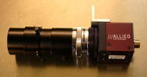 ALLIED - guppy GF 033 B  Industrie CCD- Kamera mit Tamron- Objektiv – Bild 1