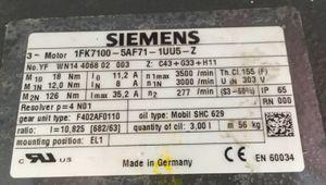 SIEMENS - Servomotor Synchronmotor Motor - 1FK7100-5AF71-1UU5-Z – Bild 5
