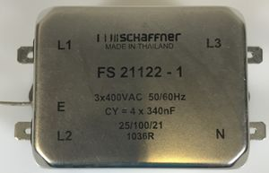 SCHAFFNER - 3 P Netzfilter - 3x400VAC  - FS 21122 - 1