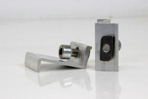 2 Stück - 43 mm Modul Endklemme Aluminium - Solar PV Photovoltaik - Höhe 43 mm – Bild 2