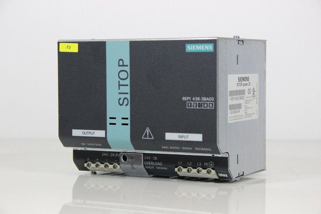 SIEMENS SITOP power 20 Stromversorgung 24 VDC 20 A 6EP1436-3BA00 E-Stand 3