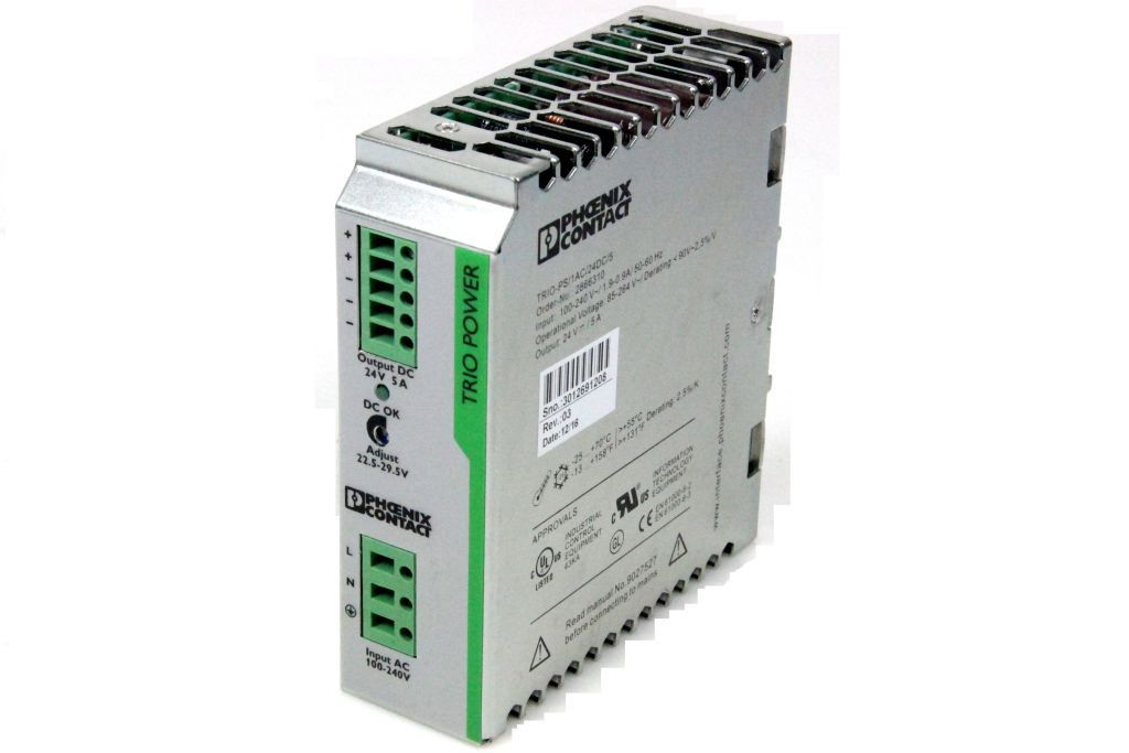 PHOENIX CONTACT TRIO-PS/1AC/24DC/5 Netzteil Stromversorgung 24VDC 5A 2866310