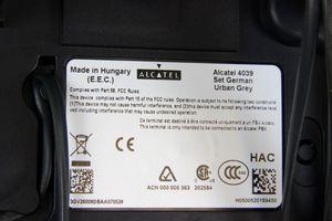 ALCATEL - ISDN Systemtelefon schwarz - 4039 + 10 key modul – Bild 2