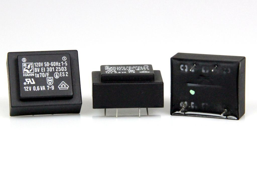 HAHN Printtrafo Print Trafo Transformator 120V BV EI 301 2503 12V 0,6 VA