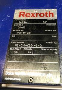 REXROTH - Hydraulikaggregat Hydraulikpumpe - 120 bar  ABSKG-60AL9/VGF2-016/132S – Bild 4