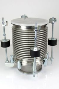 Vakuum-Federbalg ISO-K DN200 + Adapter 200-160 Edelstahl Vacuum stainless steel – Bild 2