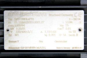 SEW EURODRIVE RF17 DR63L4/TH Getriebemotor Gear Motor 0,25 kW – Bild 5
