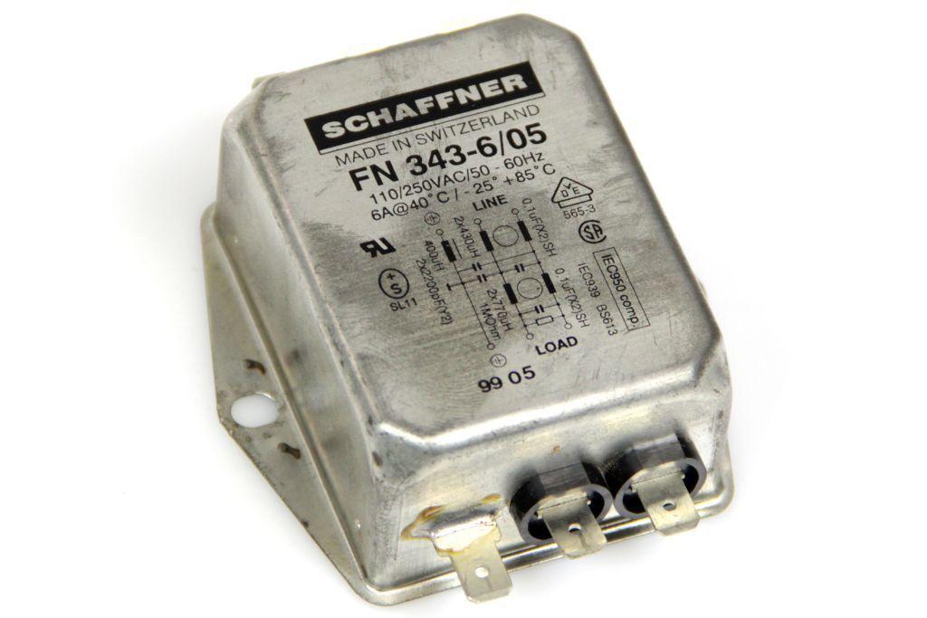 SCHAFFNER FN343-6/05 Netzfilter Power Line Filter 110/250 VAC 6 A 50-60 Hz