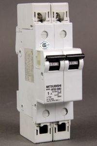 MITSUBISHI Leitungsschutzschalter NF50-SMU 2P 1A Circuit Breaker – Bild 1