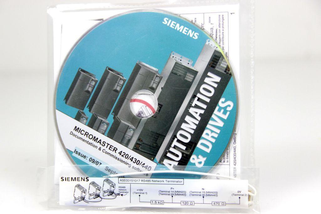 SIEMENS A5E01045378A Micromaster 420/430/440 Dokumentation Software