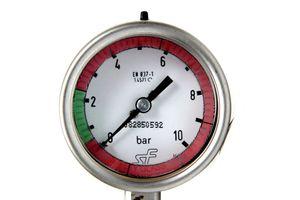 SF Manometer Kl. 1,6 || 0 bis 10 bar EN 837-1 Bimetall Zeiger Ø 64 mm – Bild 3