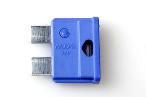 10x MTA Flachsicherung Fahrzeugsicherung 32 V 15 A Fuse MINIVAL blau – Bild 2