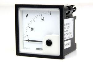 WEIGEL EQ 72 K Messgerät Messinstrument Analog Meters DC Anzeigegerät 0 - 50 V – Bild 1