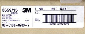 3M Geschirmtes Flachbandkabel Flachrundkabel mit Mantel Schwarz 15 Adern 28 AWG – Bild 5