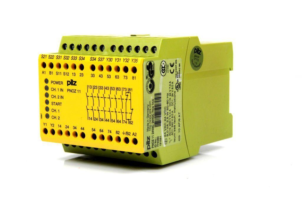 PILZ PNOZ 11 24VAC 24VDC 7n/o 1n/c Not-Aus Schaltgerät 774080