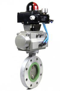 Kraft Pneumatischer Schwenkantrieb SC00150 + Apex 5000 Umwandler + Absperrklappe – Bild 1