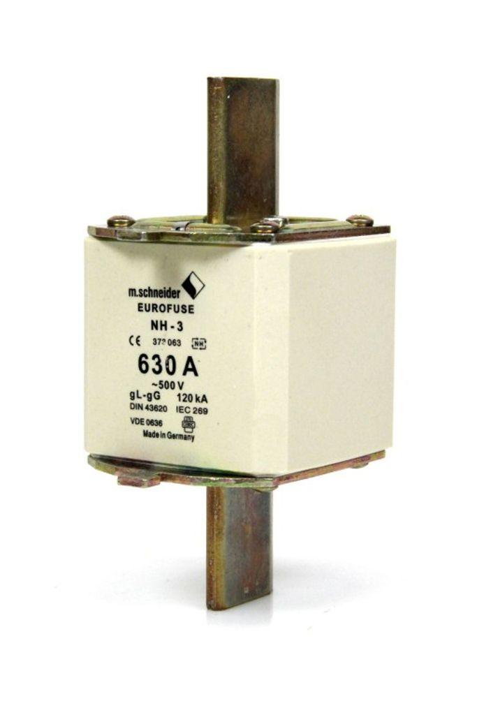 EUROFUSE m.Schneider NH Sicherung Sicherungseinsatz Gr.3 630 A 500 V fuse