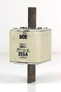 ECG ELEKTRO NH Sicherung Sicherungseinsatz Gr.3 355 A 500 V fuse