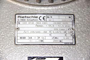 Rietschle CEV3718-DS3 Zentrifugalgebläse Radialgebläse 1,1kW centrifugal blower – Bild 3