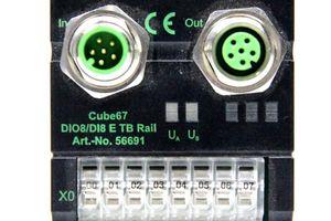 MURR Elektronik - Cube67 DIO8/DI8 E TB Rail Klemmenmodul - 56691 – Bild 2