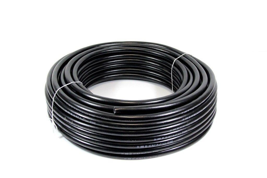 50m ALFAFLEX PVC Druckluftschauch 35 x 25 mm 40 bar Profiltress 40B Noir