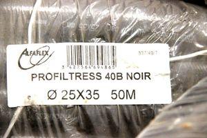 50m ALFAFLEX - PVC Druckluftschauch 35 x 25 mm 40 bar - Profiltress 40B Noir – Bild 4