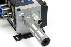 FESTO Ventilinsel CPV14-VI 18210 Magnetventil Schalldämpfer Elektrik-Anschaltung  – Bild 3