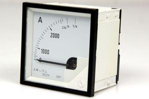 Messgerät analog Ampermeter Amper Dreheisenmesswerk Einbaumessgerät 0 - 5,2 kA – Bild 1