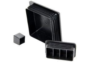 2x Kappe für Quadratrohr 65 x 65 mm PE schwarz quadratisch Stopfen Rohr – Bild 2