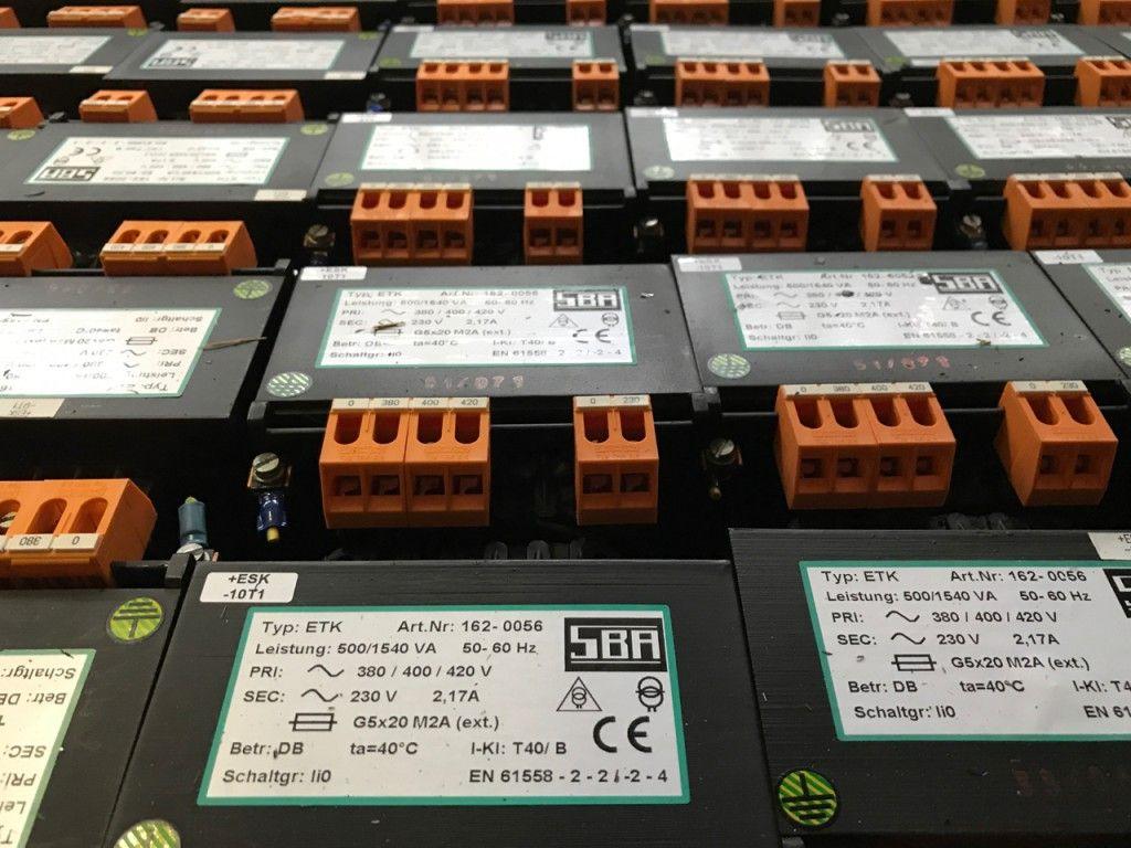 Trafo Transformator Einphasensteuertransformator SBA Typ ETK 162-0056 400/ 230 V