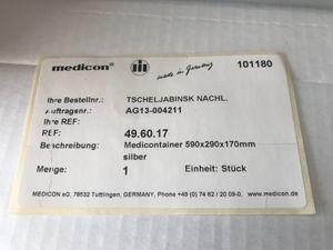 medicon Medicontainer silber  590 x 290 x 170 mm – Bild 2