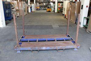 Rungenpalette Stahlpalette 220x112 cm stapelbar Palettenregal – Bild 1