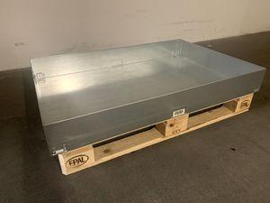 Palettenbox Regalkasten Blechkasten Lagerbox 123x82x15,5 cm verzinkt – Bild 1